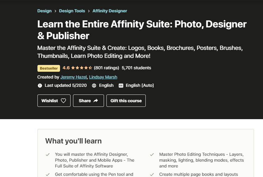 Learn the Entire Affinity Suite