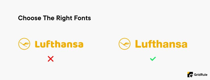 Logo Design Tip Choose The Right Fonts