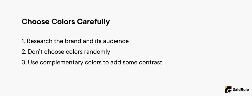 Logo Design Tips - Choose Colors Carefully