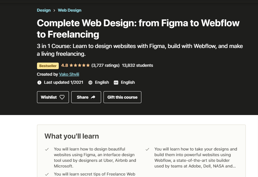 Complete Web Design from Figma to Webflow Course