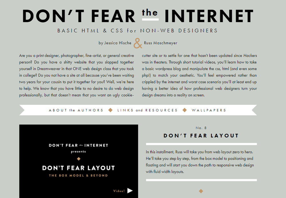 Don't Fear The Internet - Course