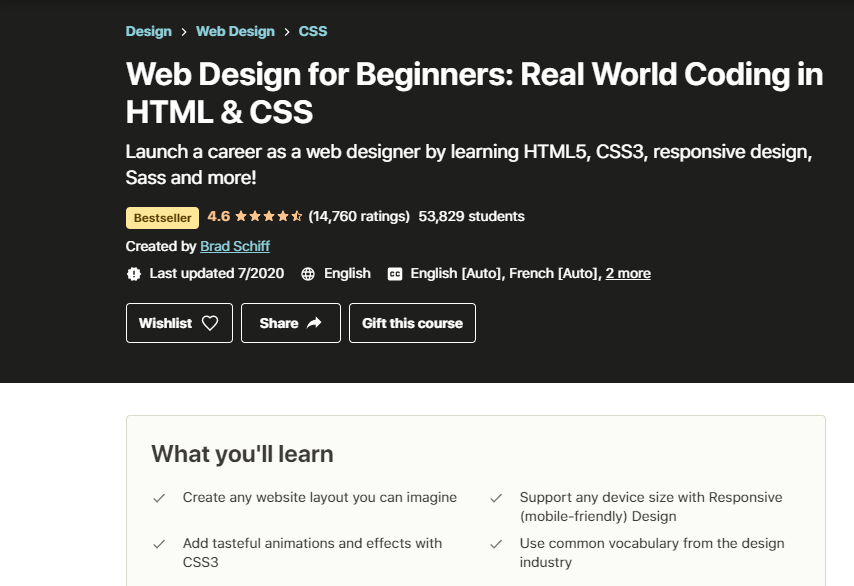 Web Design For Beginners Course