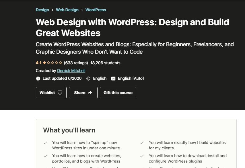 Web Design with WordPress Course