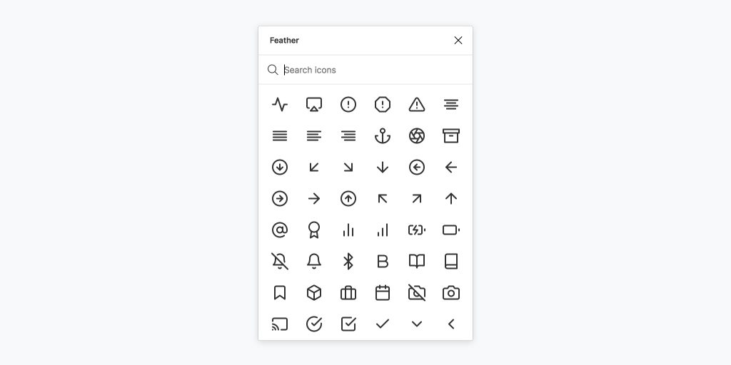 Feather Icons Figma Plugins