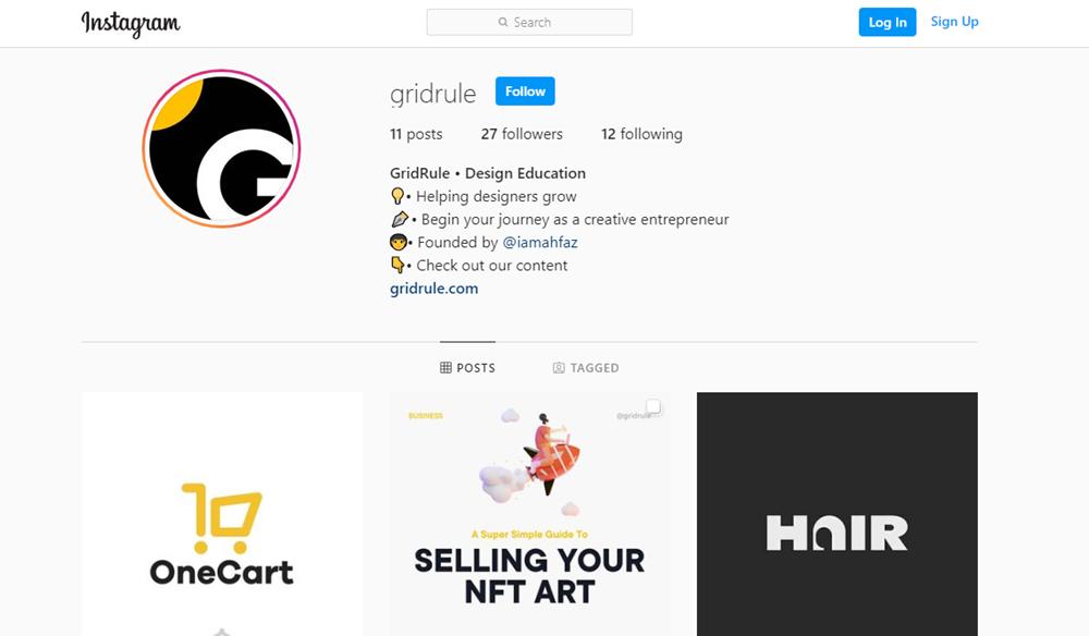 GridRule Instagram